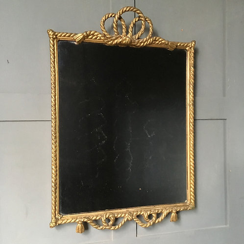 NOW SOLD - 19th century nautical rope-twist mirror
