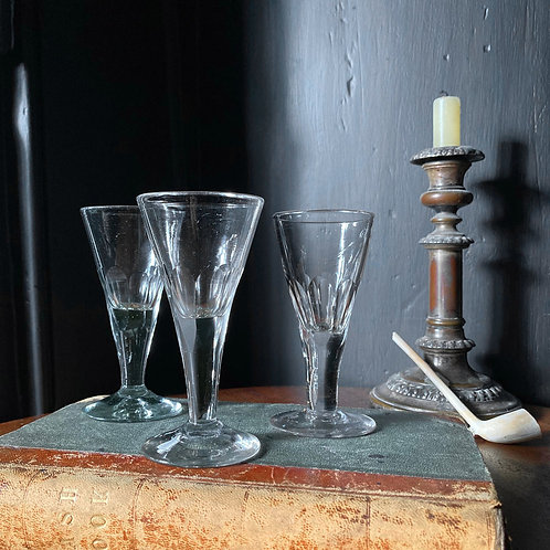 NOW SOLD - Three Georgian port glasses