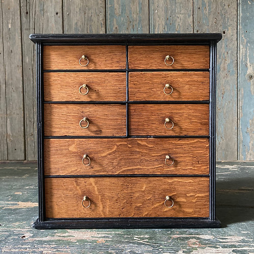 NOW SOLD - Antique oak collector's drawers