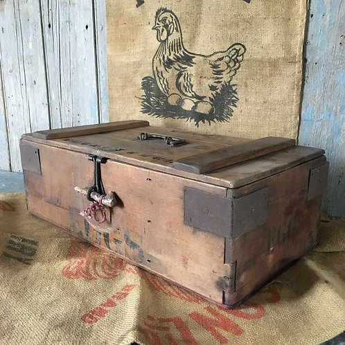 NOW SOLD - Late Edwardian pine egg box