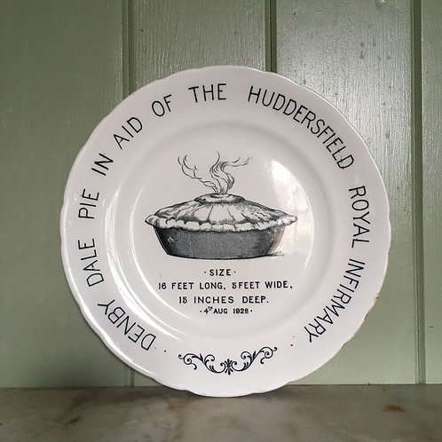 NOW SOLD - Vintage Huddersfield Pie ceramic plate