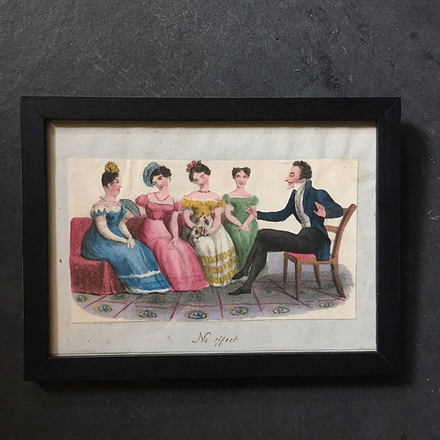 NOW SOLD - Regency hand-coloured print - Regency 'dandy'