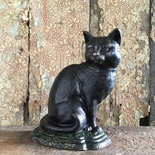 NOW SOLD - Victorian cast iron cat door stop