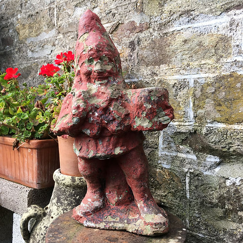SOLD - Large weathered garden gnome