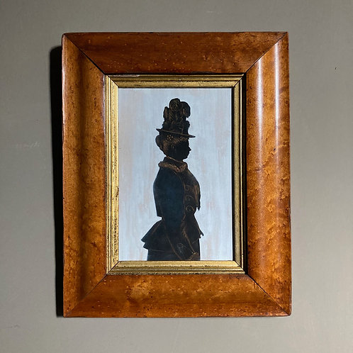 NOW SOLD - 19th C. silhouette portrait - Mary Isabella Vickers