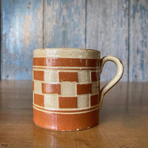 NOW SOLD - Antique Welsh mochaware mug