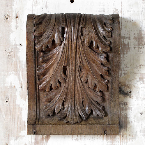 NOW SOLD - Carved oak architectural panel