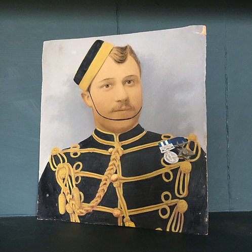 NOW SOLD - Painted military portrait