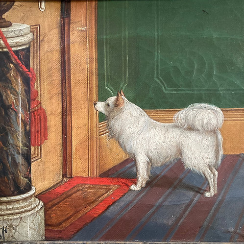 NOW SOLD - English School 19th C. painting - dog