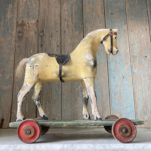 NOW SOLD - Edwardian wooden toy horse