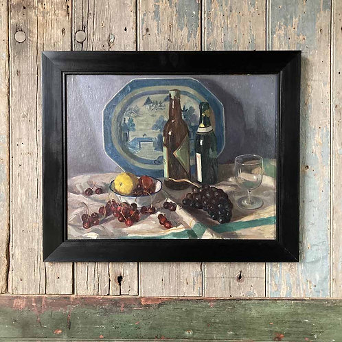 SOLD - Mid-century oil painting - still life