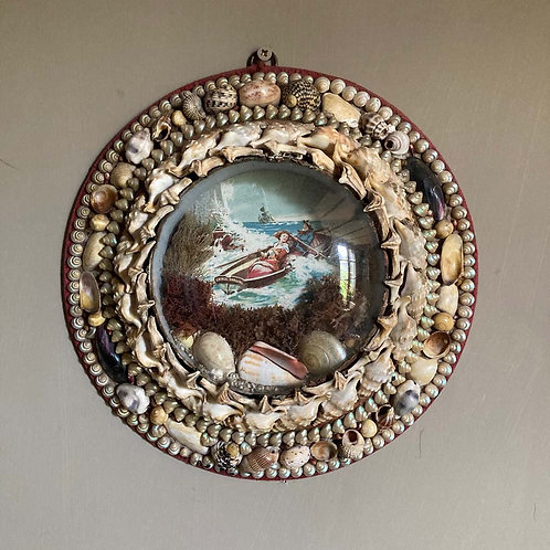 SOLD - Victorian sailor's shell valentine - 'Grace Darling' #2