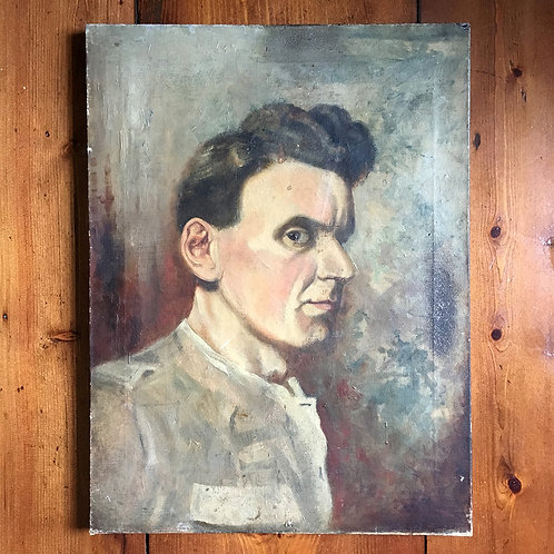 NOW SOLD - Post war oil painting - Young man
