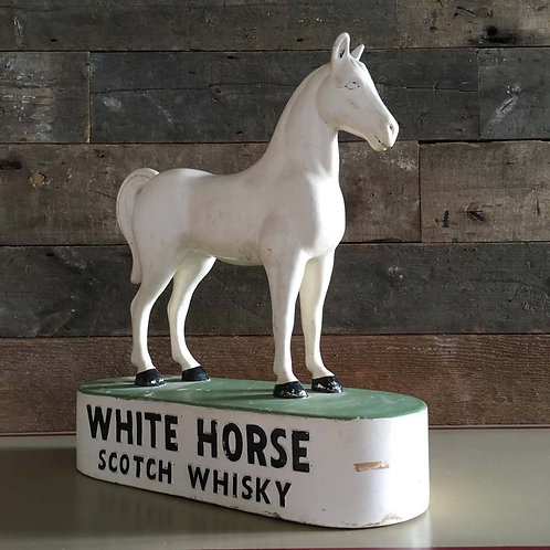 NOW SOLD - Vintage white horse whisky advert