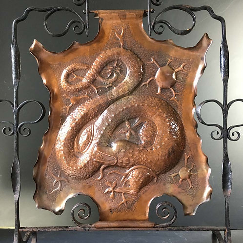 NOW SOLD Arts and Crafts copper fire screen