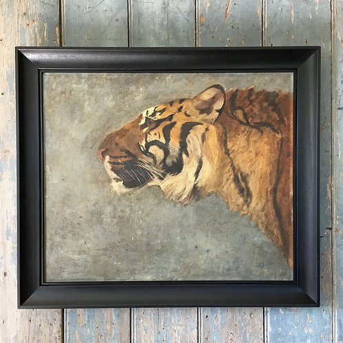 NOW SOLD - Tiger portrait oil painting