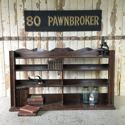 NOW SOLD - 19th C mahogany shop display shelves, c.1860