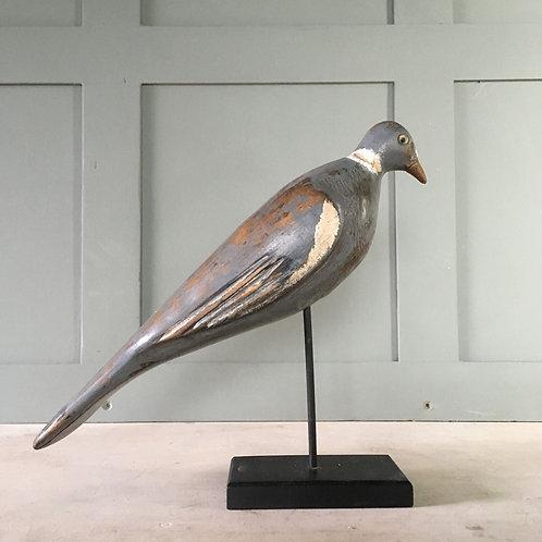 NOW SOLD - Vintage wood pigeon decoy - Harry Turvey