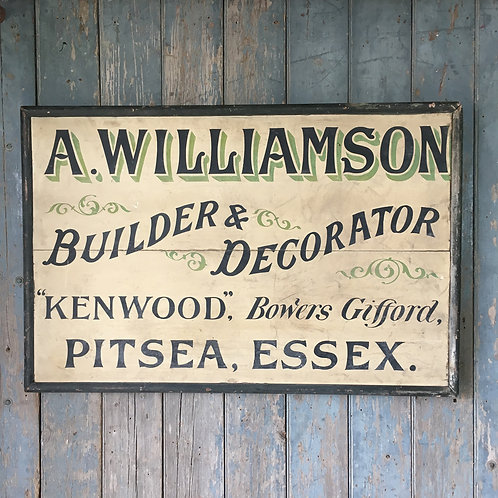 NOW SOLD - Early 20th C painted trade sign