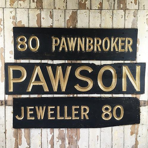 Edwardian Pawnbroker shop sign