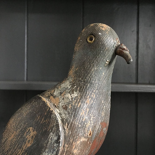 NOW SOLD - Vintage wooden decoy pigeon - No.2