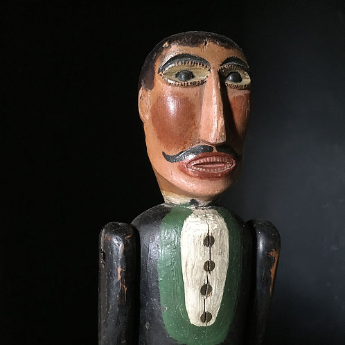 NOW SOLD - Vintage wooden folk art jig doll