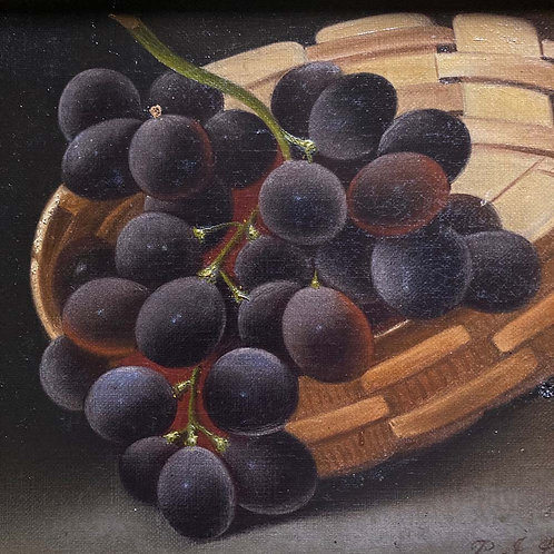SOLD - Still life oil painting - 'Grapes'