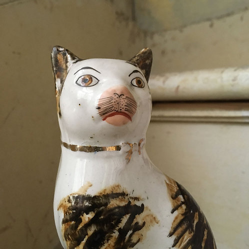 NOW SOLD - Antique Staffordshire pottery cat