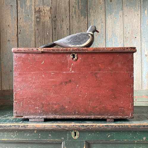 NOW SOLD - Antique painted pine storage box