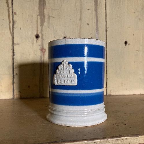 NOW SOLD - Antique mochaware mug (half pint)