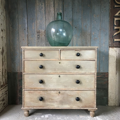 NOW SOLD - Antique painted pine drawers