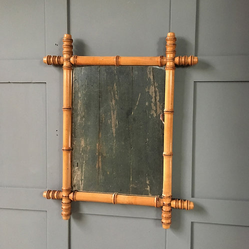 NOW SOLD - Vintage faux bamboo mirror - medium (2)