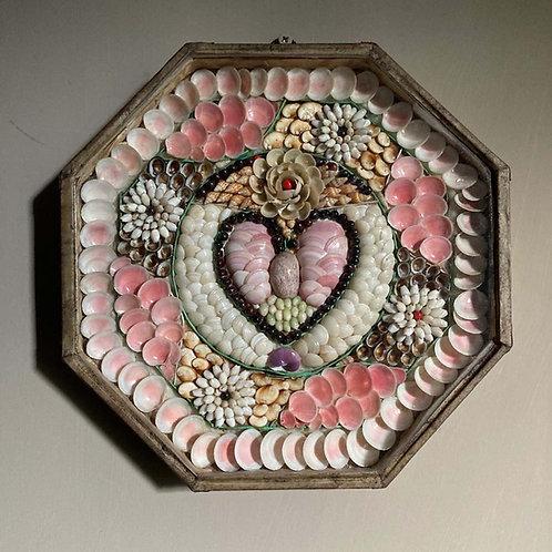 SOLD - Antique sailor's shellwork valentine