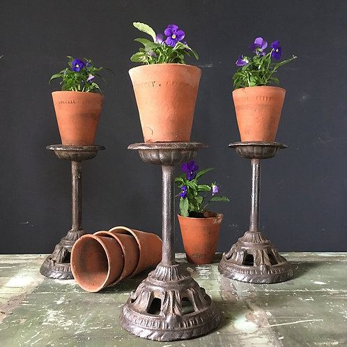 NOW SOLD - Victorian cast iron orchid stands