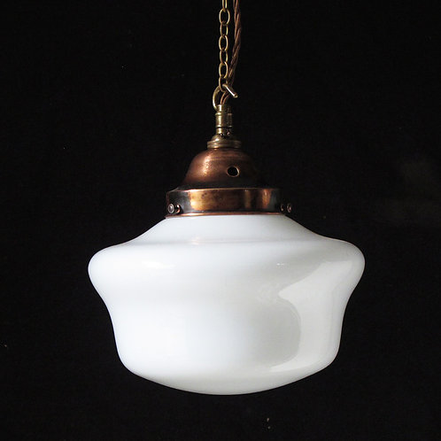 NOW SOLD - Large opaline glass pendant