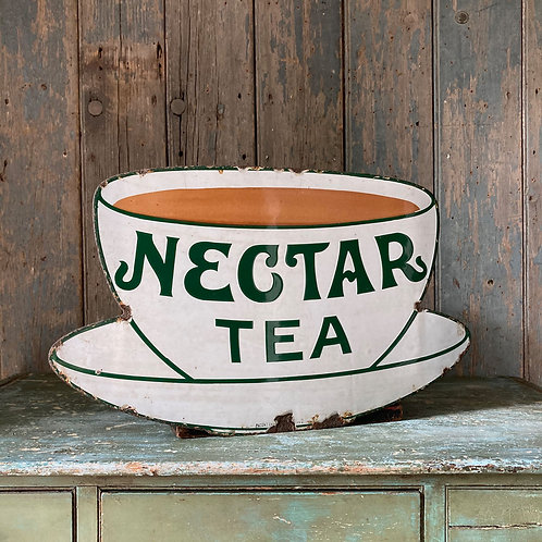 NOW SOLD  - 'Nectar Tea' enamel sign