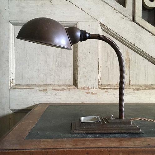 NOW SOLD - Vintage gooseneck desklamp