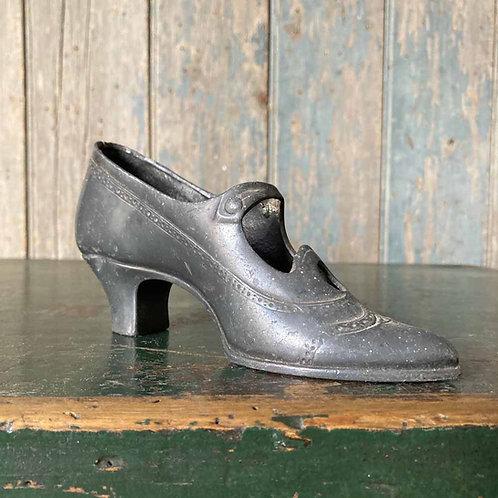 SOLD - Edwardian pewter shoe