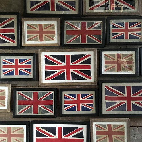NOW SOLD - Vintage framed Union Flag - No. 23