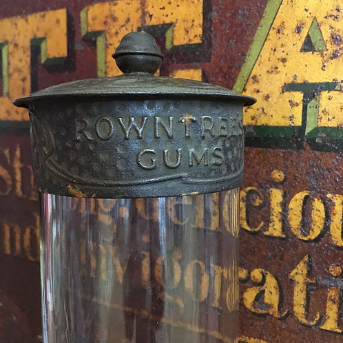 NOW SOLD - Edwardian Rowntree's Glass Sweet Jar