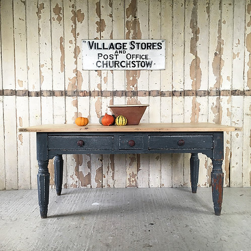 NOW SOLD - 19th century pine kitchen table