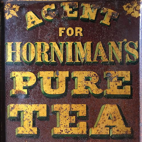NOW SOLD - Horniman's Tea toleware cabinet