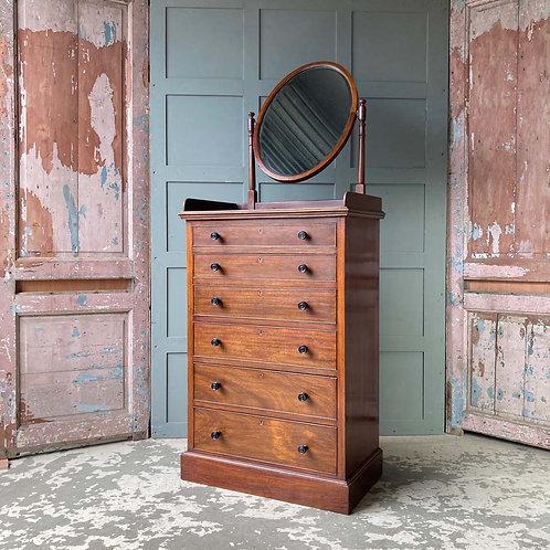 SOLD - Edwardian gentleman's drawers chest
