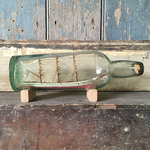 NOW SOLD - Folk art ship in bottle #2