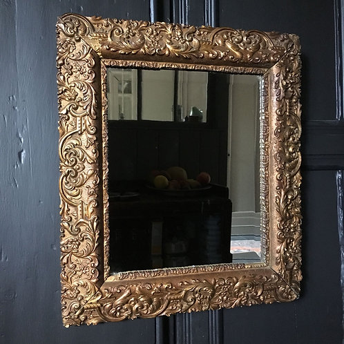 Gilt-framed mirror