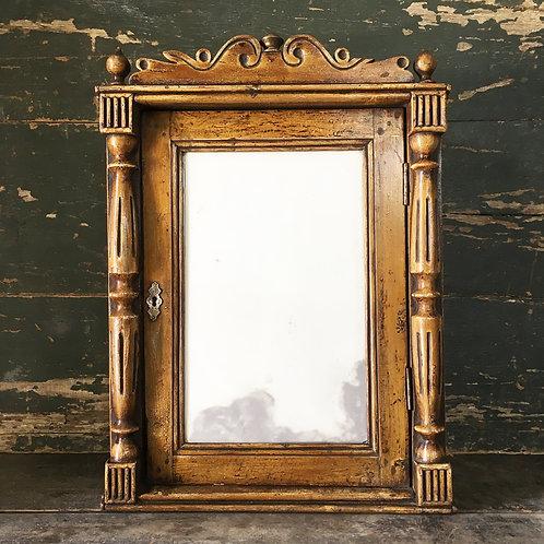 NOW SOLD - Victorian pine mirrored storage cupboard