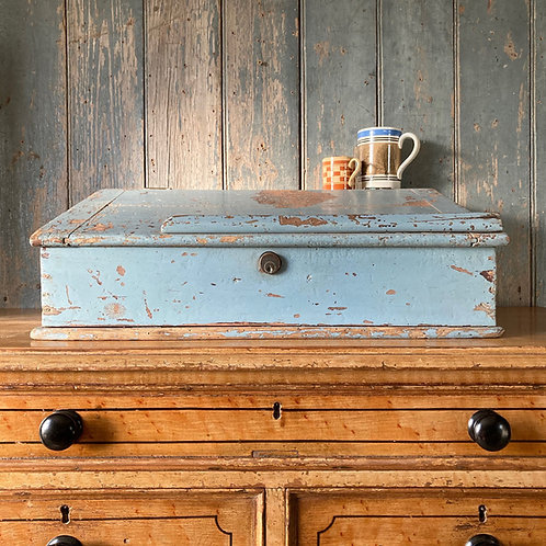 Antique painted pine writing box
