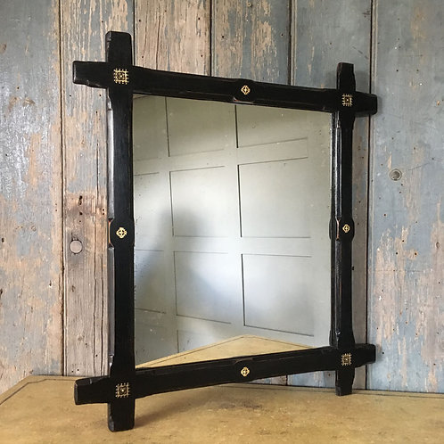 Ebonised chapel mirror (large)