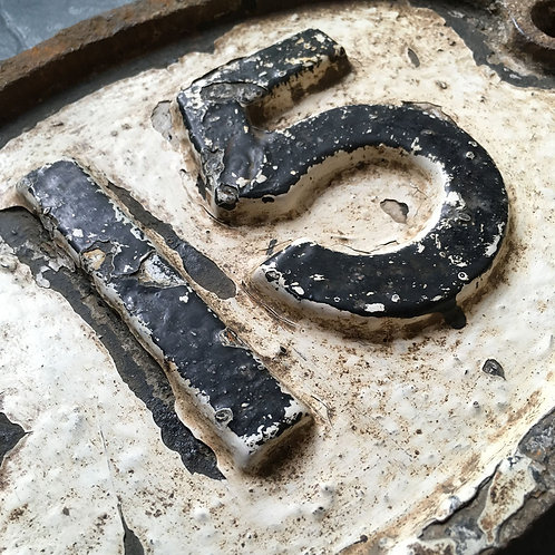 NOW SOLD - Victorian cast iron railway number '15'