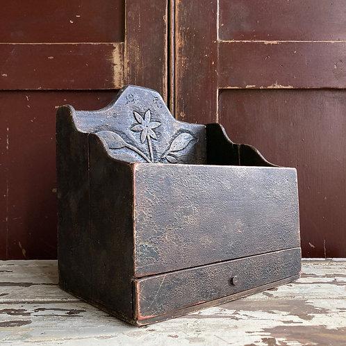 SOLD - Vintage folk art carved tray/desk tidy